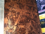 Jim Powlan Mirror copper inked in black