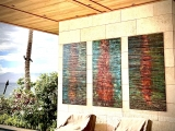 Makena-Triptych-Installed- 3ft x 6ft copper panels with UV clear coating