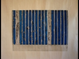 Jim Powlan blue bars with white