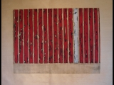 Jim Powlan red bars with white