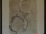 Jim Powlan Circles of Life on kimono silk